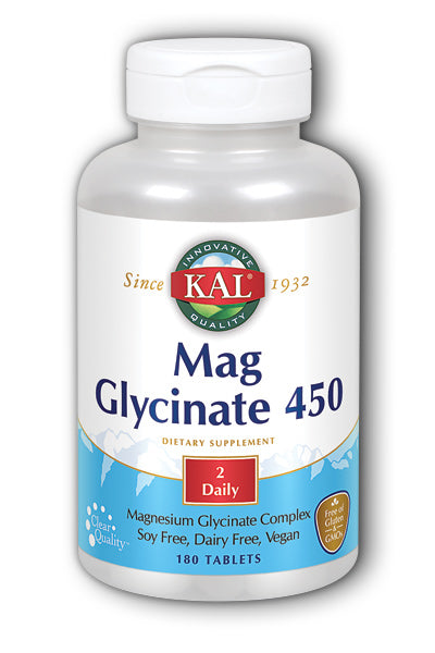 KAL- Magnesium Glycinate 450 mg, 180ct