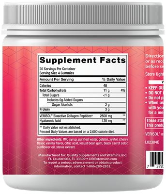 Life Extension - YOUTHFUL COLLAGEN CHERRY 80 GUMMIES