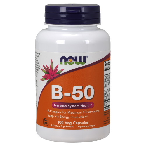 NOW FOODS -Vitamin B-50mg - 100 Veg Capsules