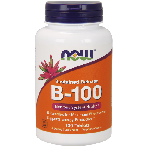 NOW FOODS -Vitamin B-100 Sustained Release - 100 Tablets