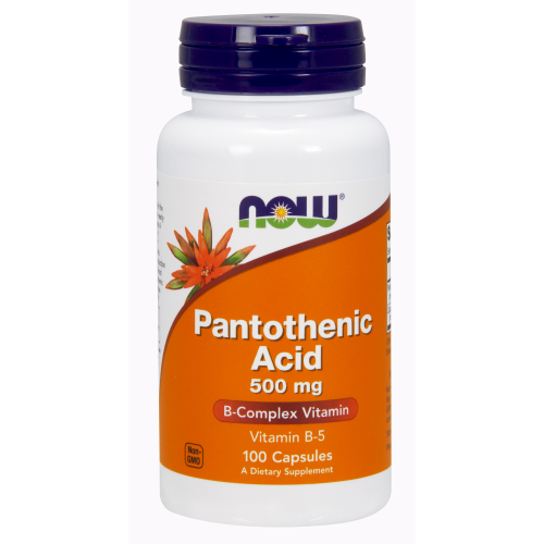 NOW FOODS -Pantothenic Acid 500 mg - 100 Capsules