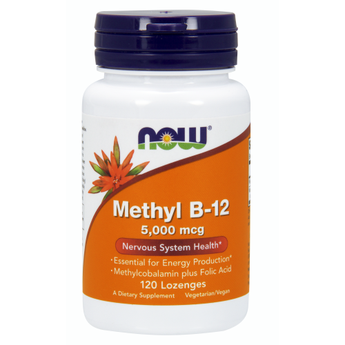 NOW FOODS -Methyl B-12 5000 mcg - 120 Lozenges