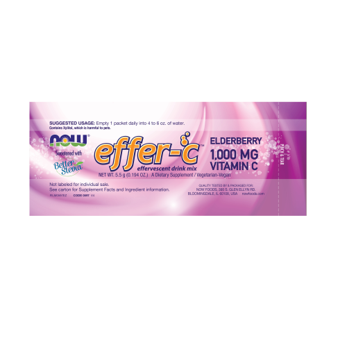 NOW FOODS -Effer-C™ Elderberry Packets - 30/Box