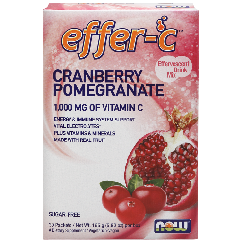 NOW FOODS -Effer-C™ Cranberry Pomegranate Packets 30/Box