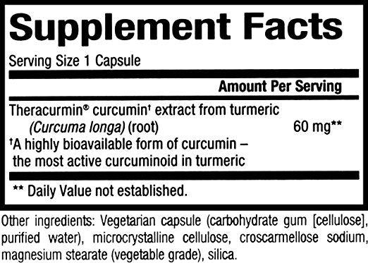 Natural Factors - CurcuminRich Double Strength Theracurmin, Antioxidant Support for a Healthy Inflammatory Response, Comfortable Joints, and a Healthy Heart, 60 Vegetarian Capsules