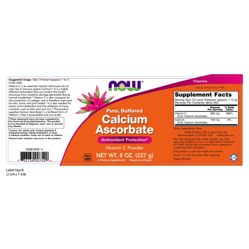 NOW FOODS -Calcium Ascorbate Powder - 8 oz.