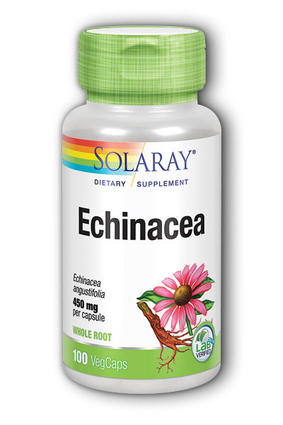 Solaray- Echinacea Angustifolia Root, Ve, 100 ct