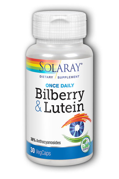 Solaray  -Bilberry & Lutein, One Daily 30ct