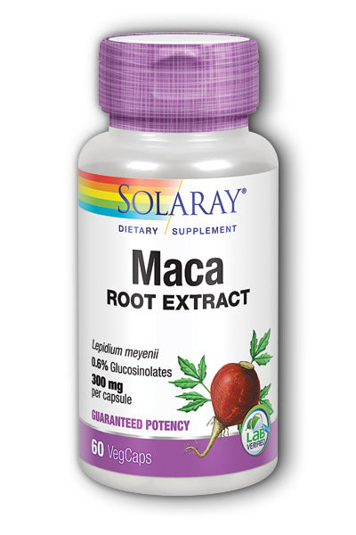 Solaray- Guaranteed Potency Maca Root Ex, 60 ct