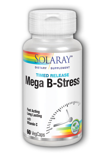 Solaray- Mega B-Stress Two-Stage, Timed-, 60 ct