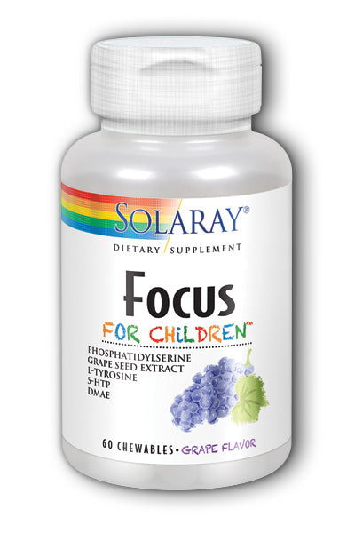 Solaray- Focus for Kids, Chewable, Grape, 60 ct