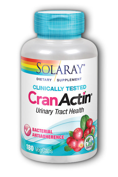 Solaray- CranActin Extract, Veg Cap , 180 ct