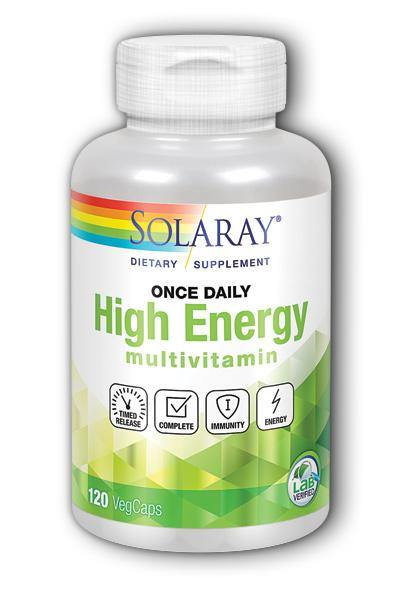Solaray  -Once Daily High Energy Multi-Vitamin, Two-Stage Timed-Release 120ct