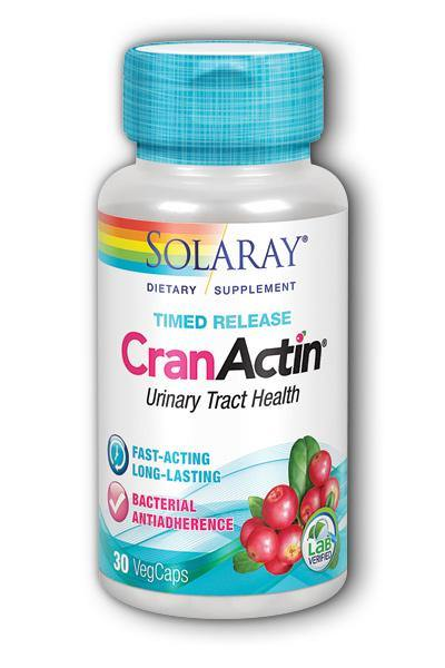 Solaray  -CranActin Cranberry Extract, Bacterial Antiadherence Formula, Timed- Releas 30ct