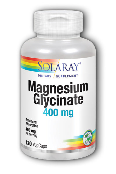 Solaray- Magnesium Glycinate, Veg Cap , 120 ct