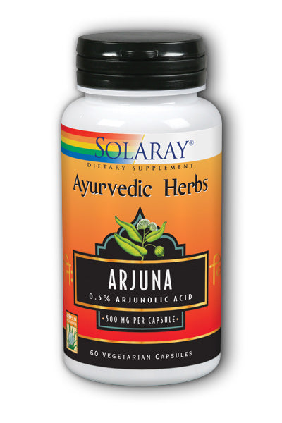 Solaray- Guaranteed Potency Arjuna Bark, 60 ct