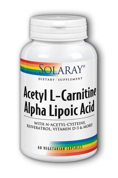 Solaray  -Acetyl L-Carnitine & Alpha Lipoic Acid 60ct - Highland Health Foods