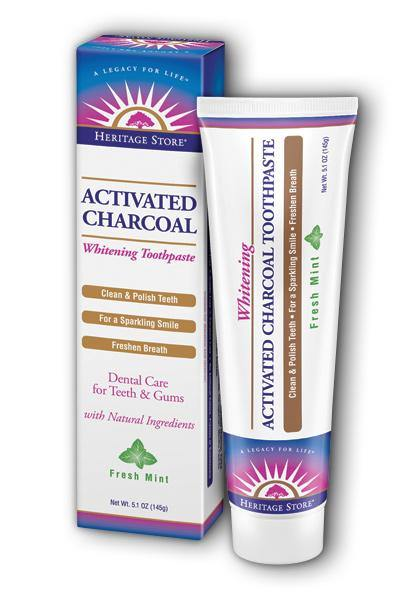 Heritage Store -Activated Charcoal Toothpaste 5.1oz - Highland Health Foods