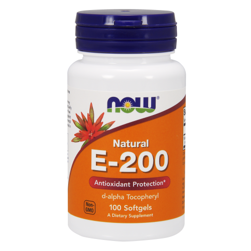 NOW FOODS -Vitamin E-200 IU d-alpha - 100 Softgels