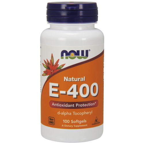 NOW FOODS -Vitamin E-400 IU D-Alpha Tocopheryl - 100 Softgels
