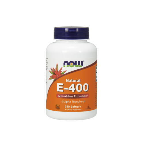 NOW FOODS -Vitamin E-400 IU D-Alpha Tocopheryl - 250 Softgels