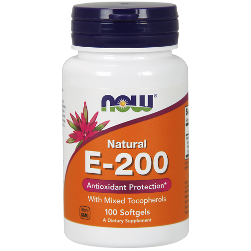 NOW FOODS -Vitamin E-200 IU Mixed Tocopherols - 100 Softgels