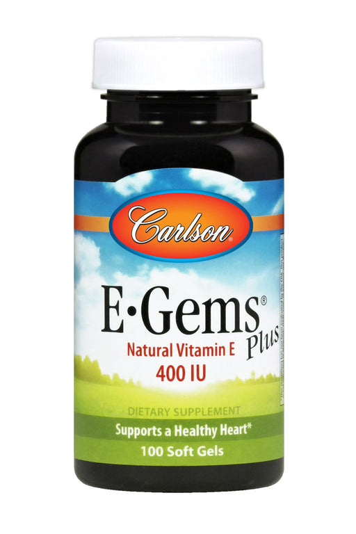 Carlson-E-Gems® Plus 400 IU, 100 Soft Gels