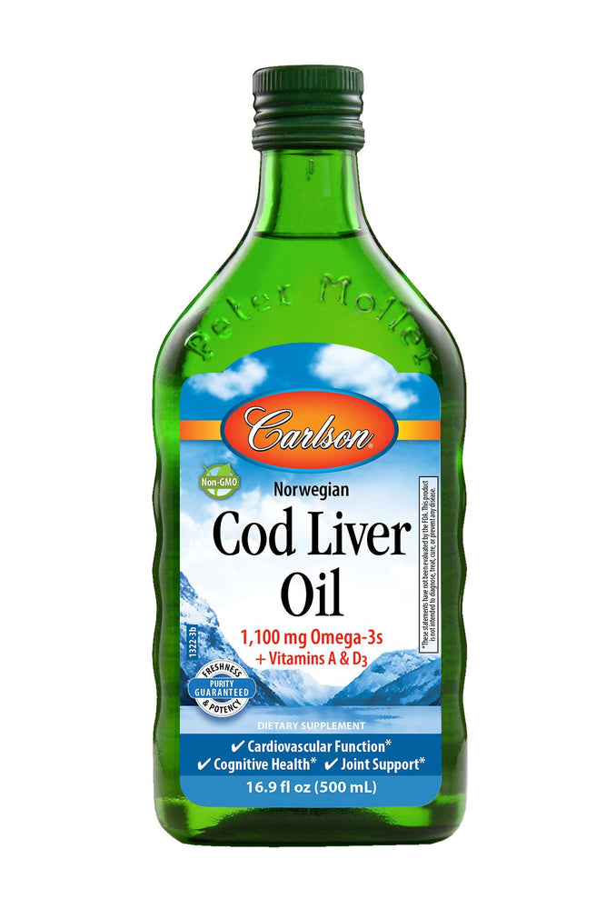 Carlson-Norwegian Cod Liver Oil, Natural, 500 mL