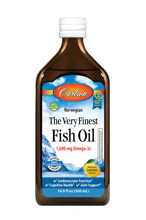 Carlson-The Very Finest Fish Oil, Lemon, 500 mL