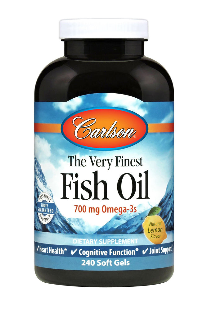 The Very Finest Fish Oil, Lemon, 240 Soft Gels