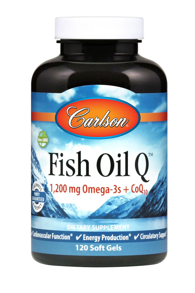 Carlson-Fish Oil Q™, 120 Soft Gels