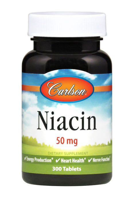 Carlson-Niacin 50 mg, 300 Tablets