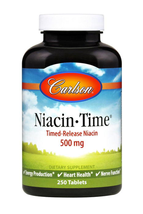 Carlson-Niacin-Time 500 mg, Time Release, 250 Tablets