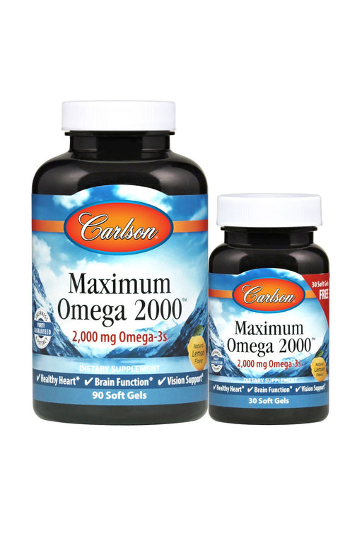 Carlson-Maximum Omega 2000, 90 + 30 Soft Gels