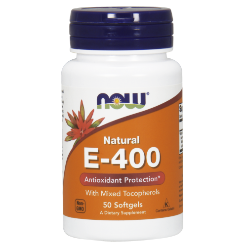 NOW FOODS -Vitamin E-400 IU MT - 50 Softgels