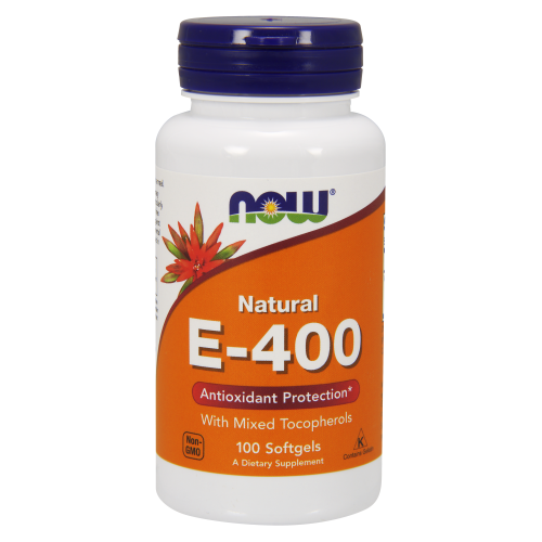 NOW FOODS -Vitamin E-400 IU MT - 100 Softgels