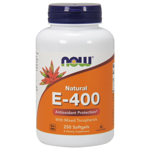 NOW FOODS -Vitamin E-400 IU MT - 250 Softgels