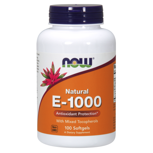 NOW FOODS -Vitamin E-1000 IU Mixed Tocopherols - 100 Softgels