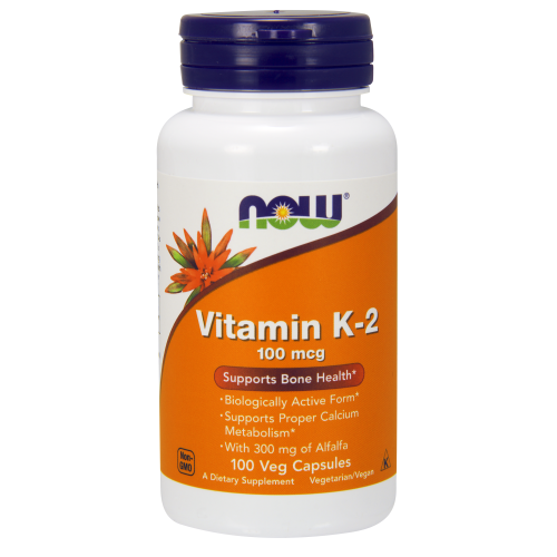 NOW FOODS -Vitamin K-2 100 mcg - 100 Veg Capsules