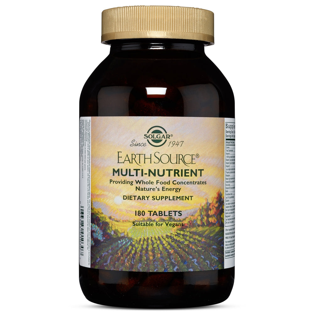 Solgar- Earth Source® Multi-Nutrient Tablets Providing Whole Food Concentrates- 180