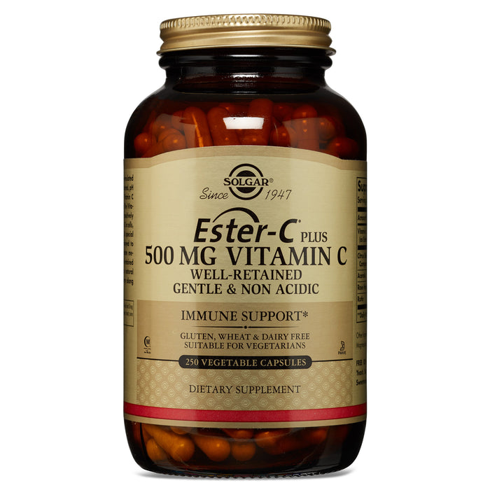 Solgar- Ester-C® Plus 500 mg Vitamin C Vegetable Capsules (Ester-C® Ascorbate Complex)- 250