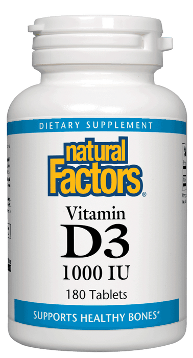 Natural Factors-Vitamin D3 1,000 IU 180 TAB