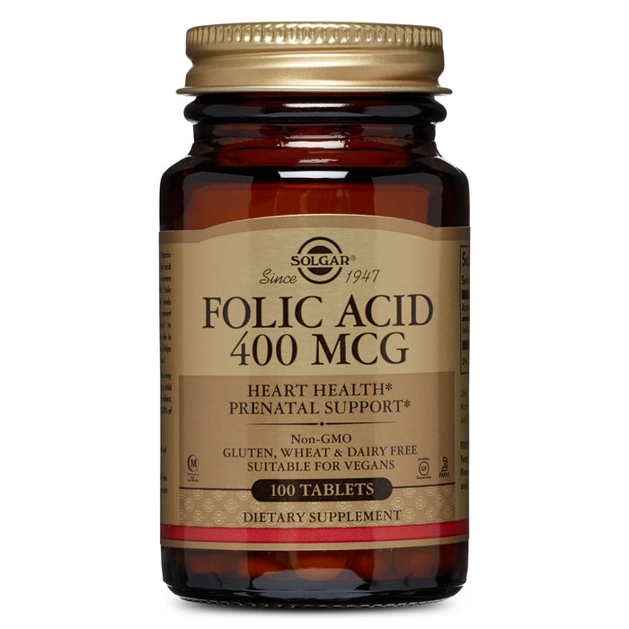 Solgar- Folic Acid 400 mcg Tablets- 100