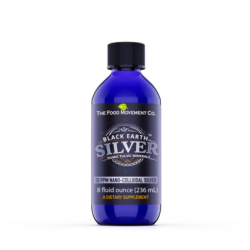 The Food Movement - Black Earth Silver 20 ppm | Colloidal Silver Hydrosol | 8 oz - Highland Health Foods