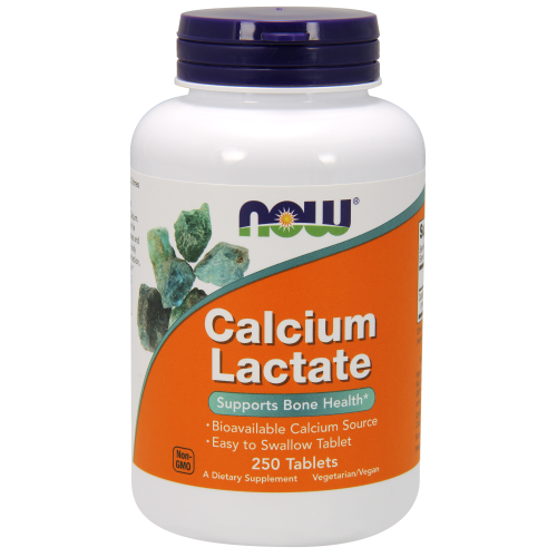 NOW FOODS -Calcium Lactate - 250 Tablets