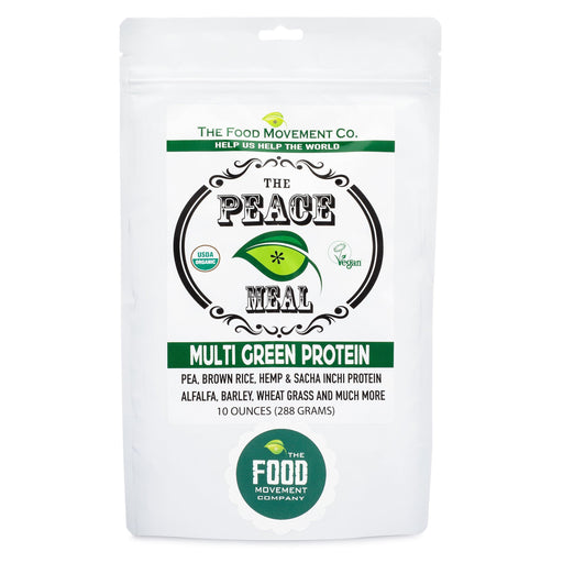 The Food Movement - THE PEACE MEAL - Multi Green Protein -10 oz. - Highland Health Foods