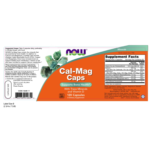 NOW FOODS -Cal-Mag - 120 Capsules