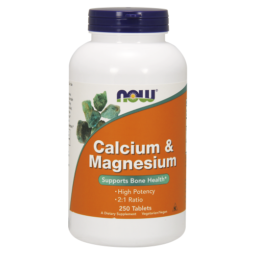 NOW FOODS -Calcium & Magnesium - 250 Tablets