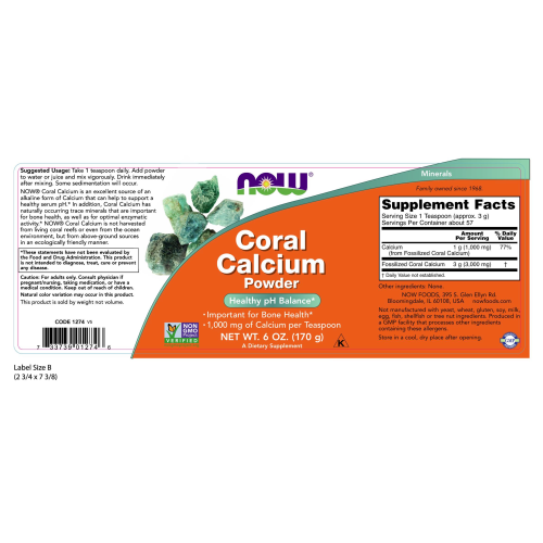 NOW FOODS -Coral Calcium Powder - 6 oz.