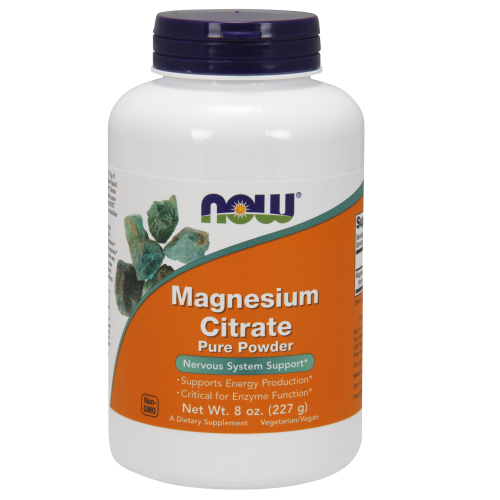 NOW FOODS -Magnesium Citrate Pure Powder - 8 oz